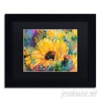 Charlton Home 'Blue Sunflowers' Print on Canvas CHRH7375