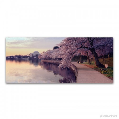Charlton Home 'Cherry Blossoms Jefferson Memorial' Photographic Print on Wrapped Canvas CHRH7106