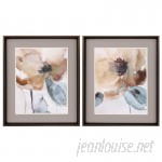 Darby Home Co Poppy2 Piece Framed Painting Print Set DBYH4044