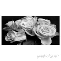 DesignArt Bunch of Roses Black and White Floral Photographic Print on Wrapped Canvas ESIG9426