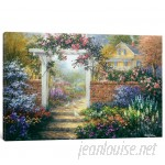 East Urban Home 'Rose Arbor' Painting Print on Canvas ESUR7866