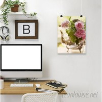 East Urban Home 'Shabby Roses Flower Floral Vintage 3' Photographic Print EAHU1095