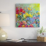 East Urban Home Iris Scott - 'Clay Flowers' Painting Print on Canvas ESUR9536