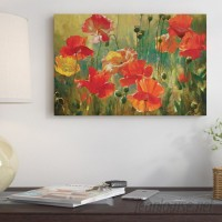 East Urban Home Poppy Fields Painting on Wrapped Canvas ESRB5870