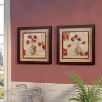 Fleur De Lis Living 'Cinq Tulipes' 2 Piece Framed Print Set FDLL5198