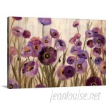 Great Big Canvas 'Pink and Purple Flowers' by Silvia Vassileva Painting Print GBCN4258