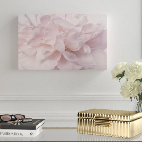 House of Hampton 'Pink Peony Petals II' Photographic Print on Wrapped Canvas HMPT4918