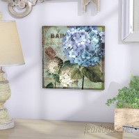 Lark Manor 'Colorful Hydrangeas with Antique French Backdrop' Textual Art Wall Plaque LRKM3893