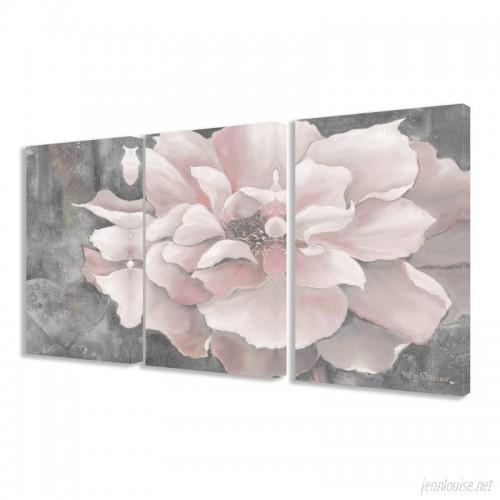 Lark Manor 'Pastel Pink Peony' 3 Piece Painting Print Set on Wrapped Canvas LRKM2495