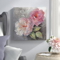 Lark Manor 'Roses on Gray I' Painting Print on Wrapped Canvas LRKM3137