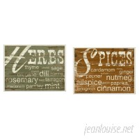 Laurel Foundry Modern Farmhouse 'Herbs and Spices' 2 Piece Textual Art Wall Plaque Set LFMF1416