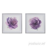 Madison Park Signature 'Purple Ladies Rose' 2 Piece Framed Watercolor Painting Print Set on Paper BDIS1297