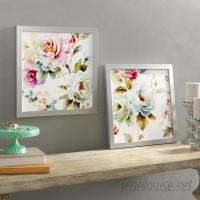 One Allium Way 'Beautiful Romance V' 2 Piece Framed Watercolor Painting Print Set ONAW4267