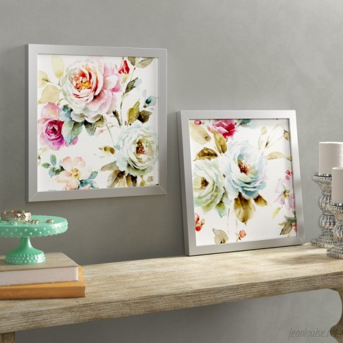 One Allium Way 'Beautiful Romance V' 2 Piece Framed Watercolor Painting Print Set ONAW4267
