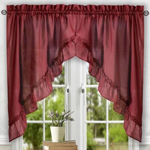 August Grove Casarina 60 Ruffled Swag Curtain Valance AGGR5933