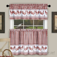 August Grove Harville Plaid Rooster Kitchen Curtain AGTG3166