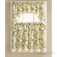 August Grove Storer Lemon Fest Kitchen Curtain Set AGTG3168