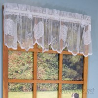 Beachcrest Home Tradewinds Lace Scalloped Bottom 56 Valance BCHH5380