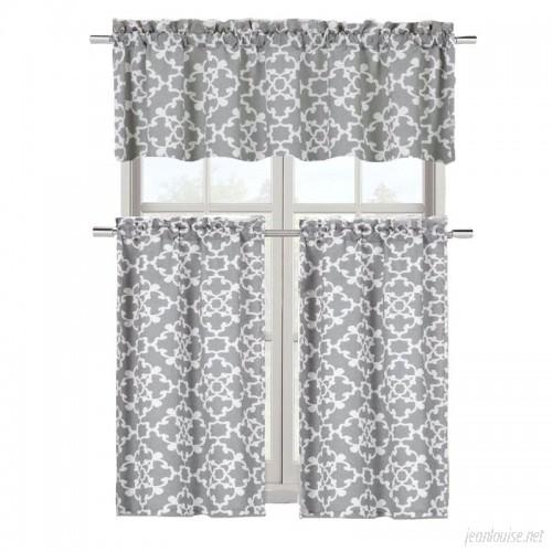 Charlton Home Emsley 3 Piece Kitchen Curtain Set CHRL7292