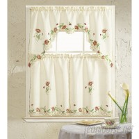Daniels Bath Cosmos 3 Piece Kitchen Curtain Set DBAS1162