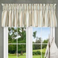"""Ellis Curtain Jaden Stripe Tailored 80"""" Curtain Valance EQK1699"""