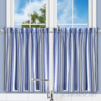 Ellis Curtain Jaden Stripe Tailored Tier Curtain EQK1692
