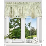 """Langley Street Brandon Ikat Check Lined Scallop 70"""" Curtain Valance LGLY7059"""