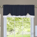 "Longshore Tides Vannessa Traditional Elegance Double Layered Pick Up 58"" Window Valance LNTS2073"