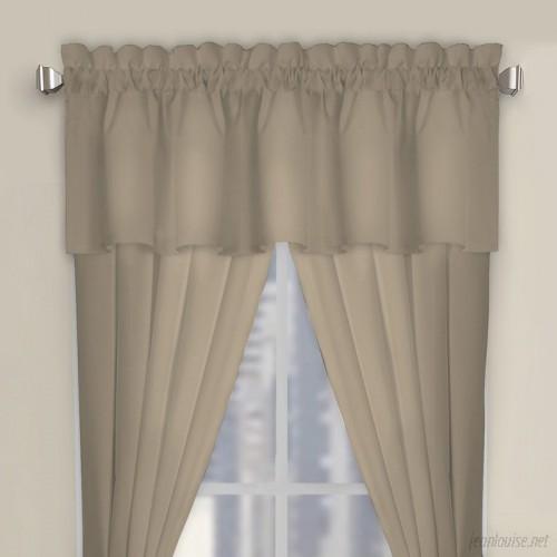 Symple Stuff Microfiber Tailored Curtain Valance SYPL2707