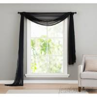 Willa Arlo Interiors Kenton Sheer Window Scarf Polyester Curtain Valance WRLO7887