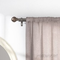 Beachcrest Home Kaiya Double Curtain Rod and Hardware Set BCMH2307