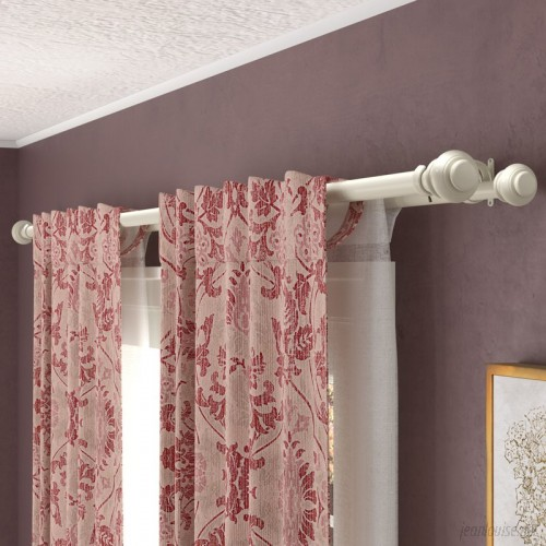 Darby Home Co Margery Double Curtain Rod and Hardware Set DABY1030