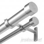 Umbra Cappa Solutions Double Curtain Rod and Hardware Set UMB2526