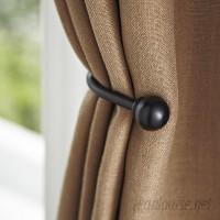 Birch Lane™ Matte Black Drapery Curtain Holdback BL3689