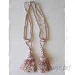 Established 98 Soft Rose Tassel Curtain Tieback ESTB1119
