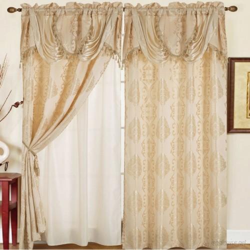 Astoria Grand Anderle Jacquard Floral/Flower Semi-Sheer Rod Pocket Single Curtain Panel ATGD4960