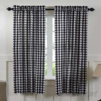 August Grove Caulder Buffalo Check Lined 100% Cotton Curtain Panels AGTG8750