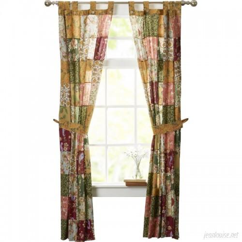 August Grove St. John Patchwork Sheer Tab Top Curtain Panels ATGR3250