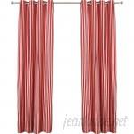 Best Home Fashion, Inc. Herringbone Striped Semi-Sheer Grommet Curtain Panels BEHF1114