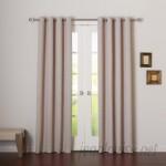 Best Home Fashion, Inc. Plaid Check Blackout Grommet Curtain Panels BEHF1103