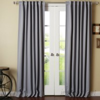 Best Home Fashion, Inc. Solid Blackout Thermal Rod Pocket Single Curtain Panel BEHF1346