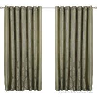Best Home Fashion, Inc. Wide Width Damask Jacquard Grommet Curtain Panels BEHF1015