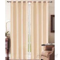 BHPNY Sally Carmen Solid Semi-Sheer Grommet Single Curtain Panel SIEL1030