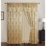 Bloomsbury Market Hovey Jacquard Double Nature/Floral Room Darkening Thermal Rod Pocket Single Curtain Panel BLMS3807