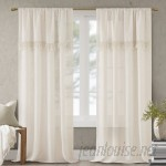Bungalow Rose Vangorder Window Solid Sem-Sheer Rod Pocket Single Curtain Panel BGLS4646