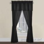 Fresh Ideas Tailored Solid Semi Sheer Rod Pocket Single Curtain Panel FRH1270