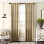 Gracie Oaks Lindenwold Burlap Curtain Panels GRKS8469