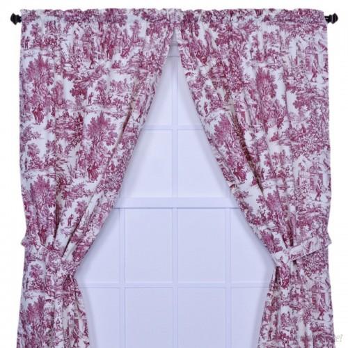 Lark Manor Gatineau Toile Semi-Sheer Rod pocket Curtain Panel LRKM4515