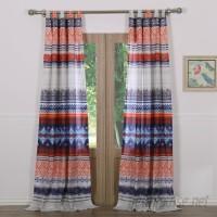 Mistana Farmington Striped Sheer Tab Top Curtain Panels MTNA4038
