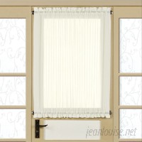 Sweet Home Collection Solid Semi-Sheer Rod Pocket Single Curtain Panel SWET2549